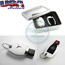 Mercedes Keyless Remote FOB Shell Holder Case Fit C E S M Class - Matte White