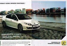 Publicité advertising 2012 (2 pages) Renault Laguna Nervasport dCi