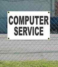 2x3 COMPUTER SERVICE Black & White Banner Sign NEW Discount Size & Price
