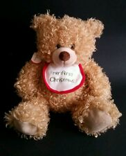 Hallmark Teddy Bear Stuffed Plush Toy My First Christmas With Tag Baby Gift
