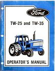 Ford TW-25 & TW-35 Tractor Operator's Manual