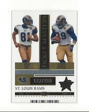 2005 R&S Ticket Masters Gold #23 Torry Holt/Steven Jackson Rams /250