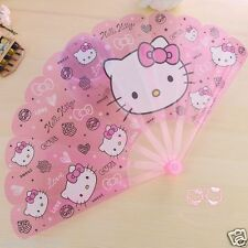 Hello Kitty Pink Heads Handheld Plastic Folding Fan KK523