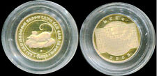 THAILAND COIN YEAR RAT ZODIAC PLATED GOLD 2008 UNC