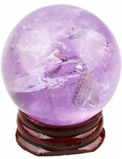 Shanxing Natural Gemstone Crystal Quartz Stone Sphere Ball On Wooded Display