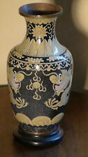"ANTIQUE 17C- 18C CHINESE OLD CLOISONNE ENAMEL VASE ""TWO DRAGONS AND PEARL"" #1"