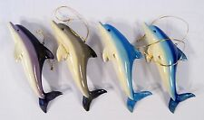 """Hand Painted Assorted Dolphin Ornament 4"""" (set of 4) 21D"""