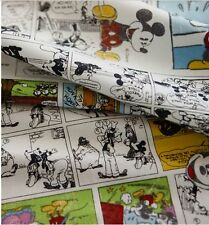 Disney Cartoon Mickey Mouse Character Cotton Fabric made in Korea by the Yard