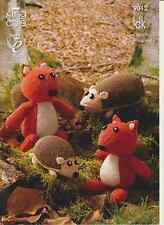 King Cole Mother And Baby Hedgehog And Squirrel Double Knitting Pattern 9012