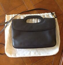Salvatore Ferragamo Vintage Navy Blue Leather Purse Handbag Clutch Crossbody