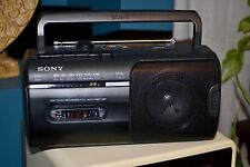 Sony CFM-10 AM/FM Radio Cassette Recorder AC/DC Tested Works Good Boombox