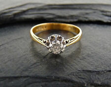 Vintage 14K Old European Cut Diamond Solitaire Ring  - 0.25 ct  Size 5.5