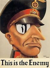 WW2  THIS IS THE ENEMY ANTI GERMAN POSTER NEW A4 PRINT