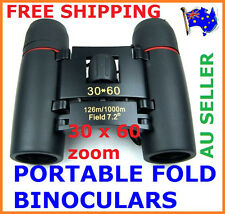 30 x 60 BLACK OUTDOOR HUNTING CAMPING FOLDING BINOCULARS TELESCOPE