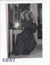 Marlene Dietrich brushes hair candid VINTAGE Photo