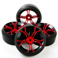 4X RC Drift Tires Wheel Rims Fit HSP 1:10 On-Road Car MPNKR+PP0370 6mm Offset