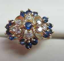 SAPPHIRE AND DIAMOND ring 14K GOLD