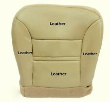 2000 2001 Ford Excursion Limited 4X4 Driver Side Bottom Leather Seat Cover Tan