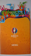 Menu card UEFA Euro 2016 Slowakia vs England Match 28