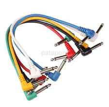 6PCS Noiseless 11.8 Inch Colorful Guitar Patch Cable Effects Pedal Cords