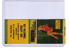 Kay McConnell Beauty Box, Morton Illinois 1940s sexy pinup girl matchbook cover