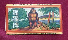 vintage Singapore Gorilla brand cigarettes rolling papers pre 1950s