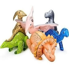 Inflatable Jumbo Dinosaurs Set of 6 Prehistoric Party Favors Decorations
