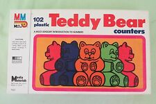 New Vintage MM Media Materials Teddy Bear Counters COMPLETE 102 PLASTIC BEARS