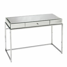 JCD47529 CHROME / MIRRORED COMPUTER DESK WITH KEYBOARD DRAWER