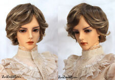 "1/3 bjd 8-9"" mohair doll wig 20-23cm brown with copper mixed Iplehouse Soom"