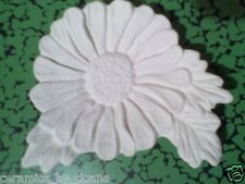 Daisy TEABAG HOLDER CERAMIC BISQUE READY TO PAINT Nowell cast handmade