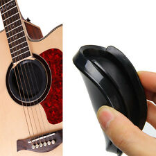 Black Screeching Halt Acoustic Guitar Sound Hole Cover Block Plug Rubber 1 pc