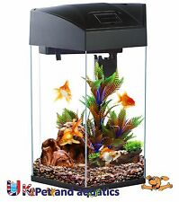 Fish R Fun, Hexagonal Fish Tank 21.6L Black
