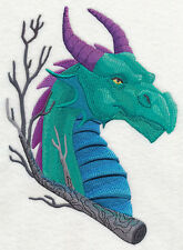 Embroidered Dragon head quilt block,fabric,pillow panel,fantasy,dragon,machine