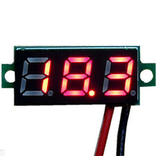 "Mini 0.28"" DC Digital Volt Meter Panel Mount LED Voltage 2.50-30V 12V Red"