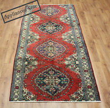 OLD WOOL HAND MADE PERSIAN ORIENTAL FLORAL RUNNER AREA RUG CARPET 253x103CM