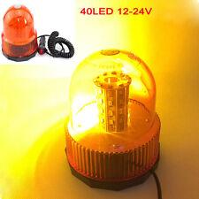 Amber Roof 40 LED Car Truck Warning 12V 24V Beacon Strobe Emergency Light Lamp