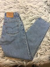 Vintage Mom Jeans Levis 550 Sz 8 Relaxed Fit High Waist Tapered Leg Light Wash
