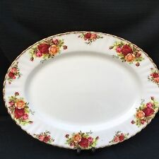 ROYAL ALBERT OLD COUNTRY ROSE Large Oval Meat Platter 35 Cm