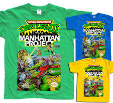 TMNT Turtles 3 Manhattan Project NES T shirt YELLOW RED ORANGE GREEN BLUE BLACK