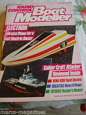 MODEL BOATS RC BOAT MODELLER MAY JUNE 1988 CALDER CRAFT ATTACKER ELECTRON RACER