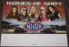 2015 Women Of NHRA postcard Enders Force Muldowney Pritchett DeJoria