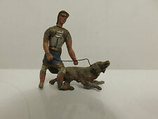 HEYDE ROMAN HANDLER TRAINER DOG VINTAGE LEAD TOY SOLDIERS GERMANY