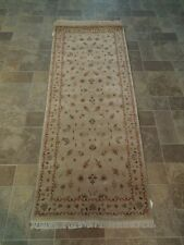 Pale Gainsboro Handmade Vegetable Dyed Traditional 2' 6'' x 6' 6'' Chobi Runner