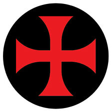 2 x Knights Templar Symbol in Black historical car, van decal sticker