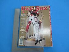 2005 Red Sox Official Yearbook World Champions Player Statistics Trophy L077