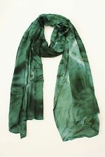 BRAND NEW HANDMADE EXTRA LONG GREEN TIE DYE SCARF SARONG COVER FREE POST /SCL003