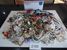 BULK VINTAGE JEWELRY 15lbs ++++  Retro Costume Craft Resale  UNSEARCHED 2185