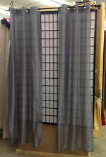 2 Piece Sateen Grommet Sheer Panels Voile Shinny Window Treatment 15 Colors 84""