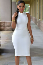 Boldgal Sexy White Club Women Western Midi One Piece Dress